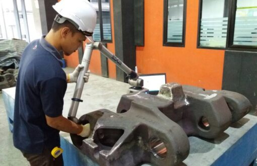 9) Dimensional inspection with portable CMM